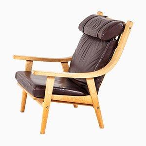 Chaise à Dossier Haut GE 530 Vintage par Hans J. Wegner pour Getama