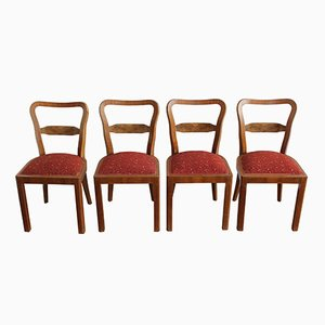 Dining Chairs, 1940s, Set of 4