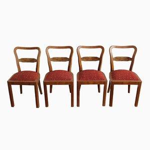 Esszimmerstühle, 1930er, 4er Set