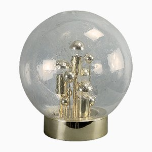 Large Vintage Golden Sputnik Table Lamp from Doria