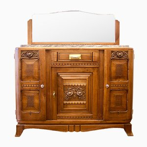 French Marble Top Buffet, 1930s