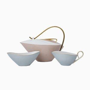 Set da tè di Siegmund Schutz per KPM Berlin, anni '50