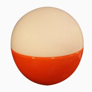 Lámpara de mesa esférica de vidrio, años 60