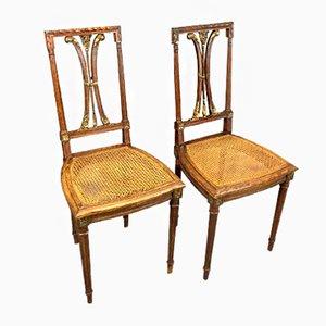 Chaises de Salon Vintage en Chêne, Set de 2