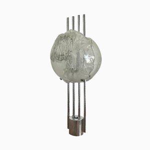 Murano Glas & Stahl Kronleuchter von Angelo Brotto für Esperia, 1970er