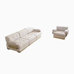 Vintage Sofa & Armchair Set by Gian Pierro Arosio for D.A.S, 1970s