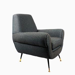 Mid-Century Italian Armchair by Gigi Radice for Minotti, 1960s