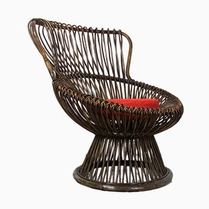 Margherita Wicker Armchair by Franco Albini for Vittorio Bonacina, 1950s