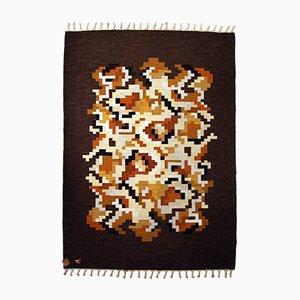Flat Weave Rölakan Korall Carpet by Erik Lundberg for Vävaregården Eringsboda, 1960s