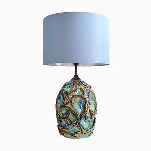 Lámpara de mesa italiana de cerámica, años 60