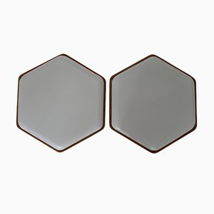 Octagonal Wall or Ceiling Lights, 1960s, Set of 2
