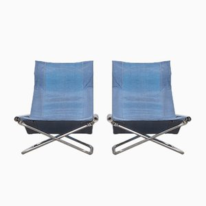Vintage NY Folding Chairs by Takeshi Nii for Suekichi Uchida, Set of 2