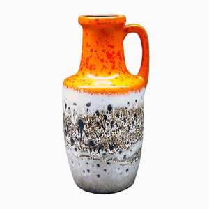 West German Fat Lava Vase from Scheurich, 1960s