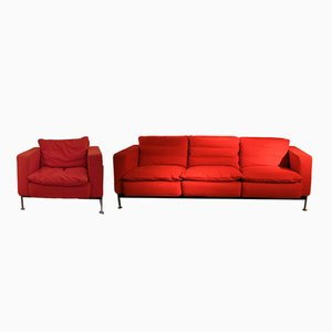 3-Seater Sofa and Armchair by Trix & Robert Haussmann, 1960s