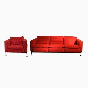 Canapé 3 Places et fauteuil par Trix & Robert Haussmann, 1960s