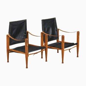 Mid-Century Safari Chairs by Kaare Klint for Rud Rasmussen, Set of 2