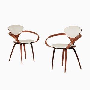 Amerikanische Pretzel Stühle von Norman Cherner für Plycraft, 1960er, 2er Set
