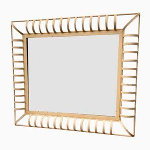 Espejo de pared industrial vintage rectangular en metal