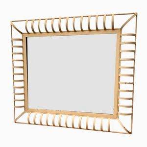 Vintage Industrial Rectangular Wall Mirror in Metal