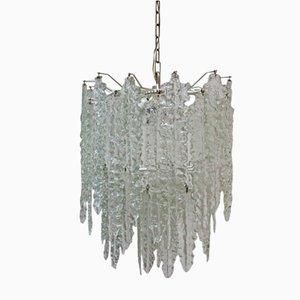 Lámpara de araña Mid-Century de vidrio de Paolo Venini para Venini, años 60