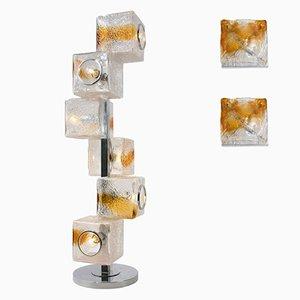 Juego de lámparas vintage de Toni Zuccheri para VeArt & Mazzega