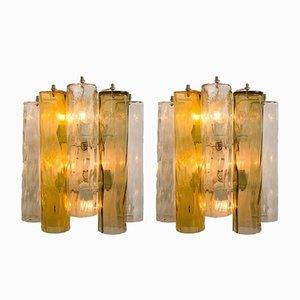 Apliques grandes de cristal de Murano de Barovier & Toso, años 60. Juego de 2