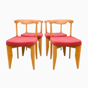 Chaises de Salon par Guillerme et Chambron, 1960s, Set de 4