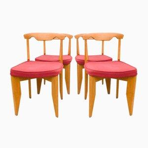 Esszimmerstühle von Guillerme et Chambron, 1960er, 4er Set