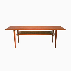 Vintage Rectangular Teak Coffee Table by Peter Hvidt for France & Søn
