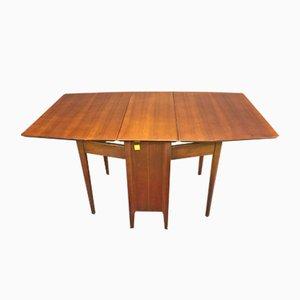 Gateleg Tisch aus Walnuss, 1970er