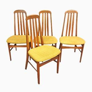 Chaises en Teck, 1970s, Set de 4