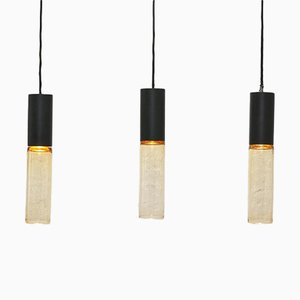 Chelsea Pendant Lamps by Peter Rodd & Richard Stevens for Atlas Lighting, 1960s, Set of 3