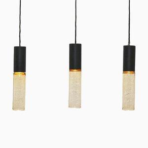 Lampes à Suspension Chelsea par Peter Rodd & Richard Stevens pour Atlas Lighting, 1960s, Set de 3