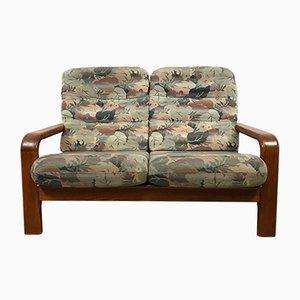 Sofá de 2 plazas danés de teca, años 70