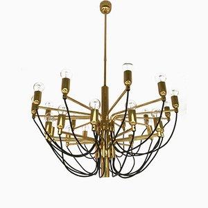 Lámpara de araña alemana de latón de Staff, años 70