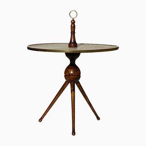 Tavolino in legno e pelle di caora di Cesare Lacca, anni '50