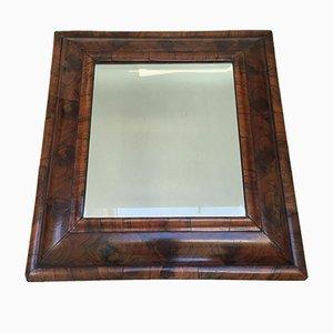Abgeschrägter Auster Furnier Spiegel, 1720er