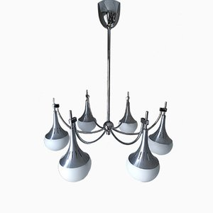 Kronleuchter mit 6 Leuchten von Gaetano Sciolari, 1960er