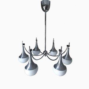 Lámpara de araña de 6 luces de Gaetano Sciolari, años 70