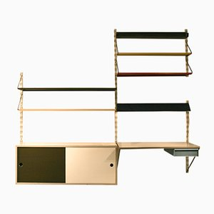 Dutch Wall Unit with Stool by Tjerk Reijenga for Pilastro, 1950s