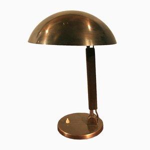 Lampe de Bureau en Cuivre par Karl Trabert pour BAG Turgi, 1930s
