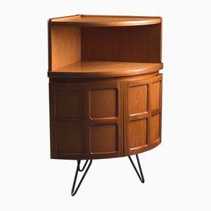 Vintage British Corner Drinks Cabinet from Parker Knoll