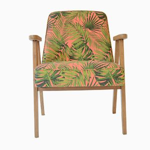 Mid-Century 366 Armchair in Tropical Print by Jozef Marian Chierowski