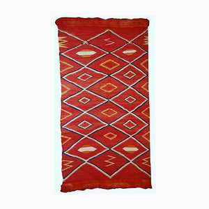 Handgefertigter Antiker Navajo Teppich von Amerikanischen Ureinwohnern, 1870er