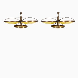 Large Pendant Lamps, 1989, Set of 2