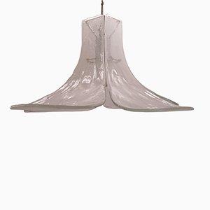 Lámpara de araña floral de Carlo Nason para Mazzega, años 60