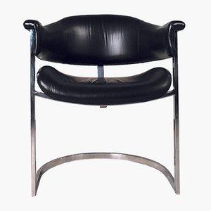 Armlehnstuhl aus Leder von Vittorio Introini für Mario Sabot, 1970er