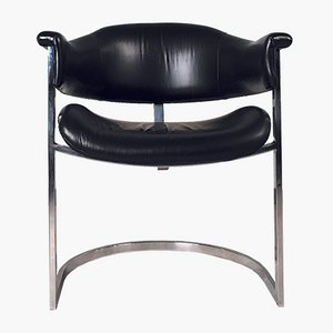 Leather Armchair by Vittorio Introini for Mario Sabot, 1970s