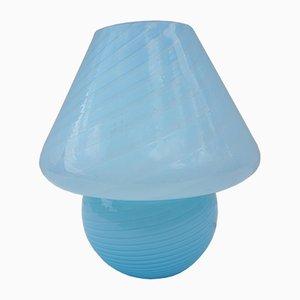 Lámpara con forma de champiñón de cristal de Murano azul de Gambaro e Poggi para Vetri, años 70