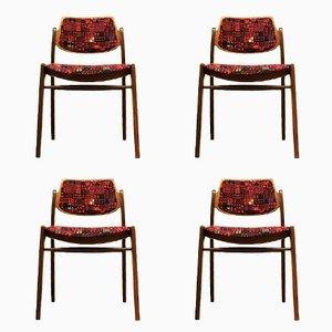 Chaises de Salon en Teck par Hartmut Lohmeyer pour Wilkhahn, 1960s, Set de 4